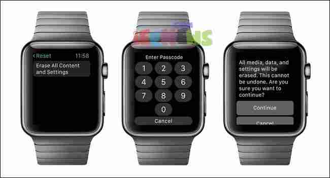 How to reset apple watch settings or factory reset Apple watch