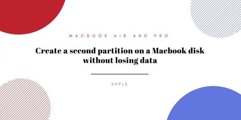 Create a second partition on a Macbook disk without losing data