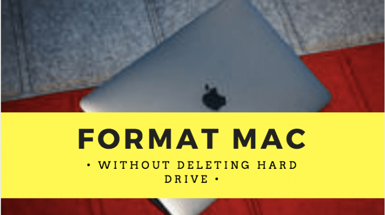 Format Mac without deleting hard drive