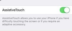 Turn on AssistiveTouch for home screen iphone button